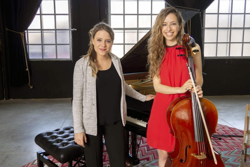 Gemma pianista y Núria violonchelista para bodas