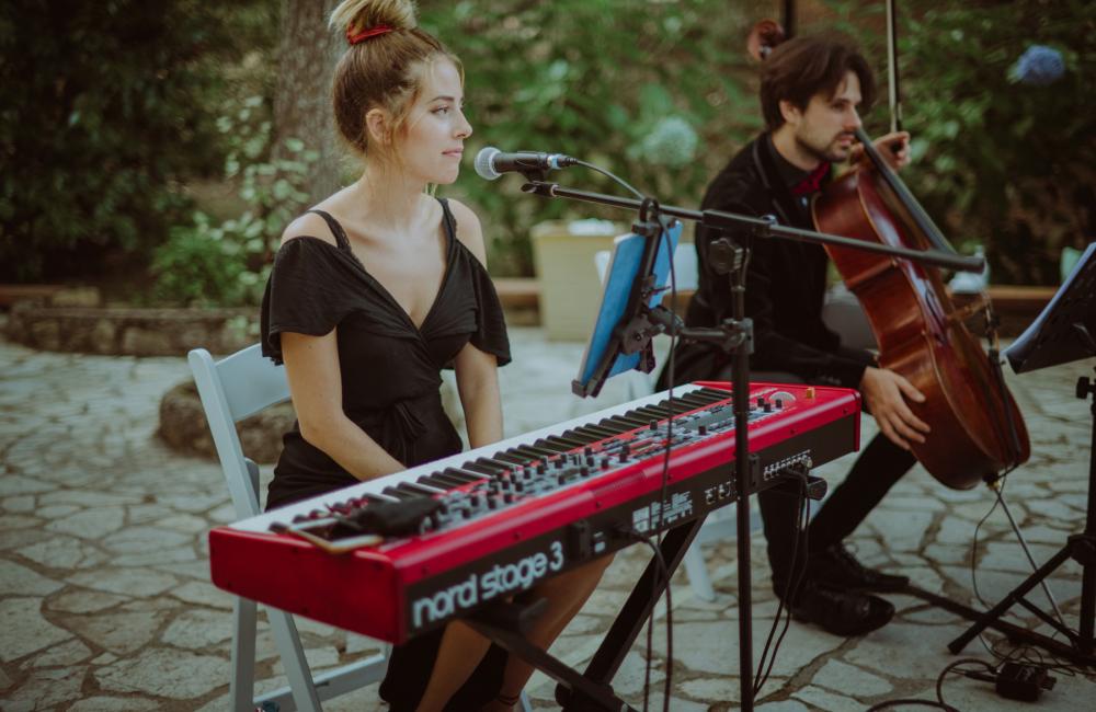 Ceremonia pianista cantante y cello