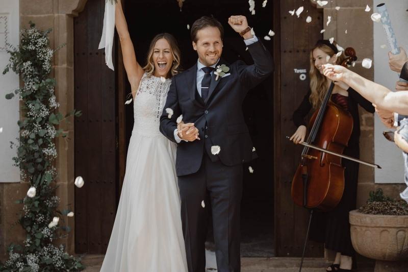 Nuria en la boda de E&M
